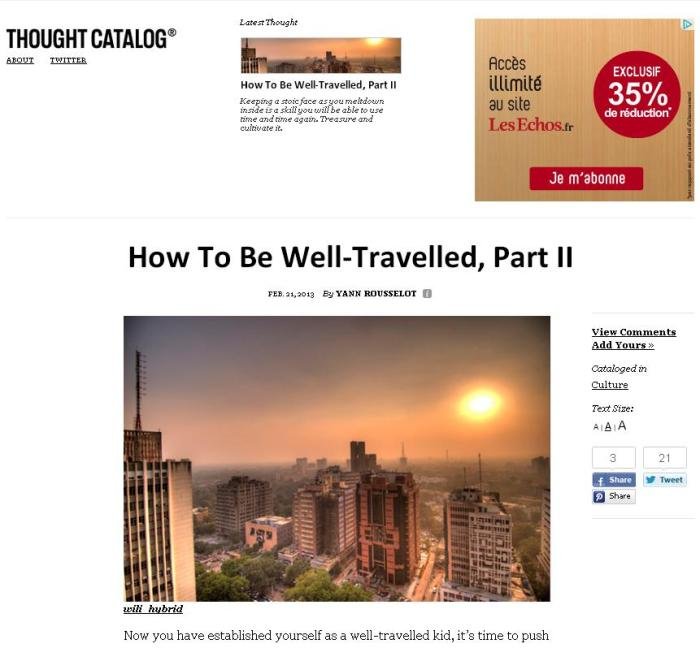 How to be well-travelled2